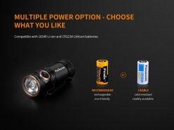 Fenix E18R Rechargeable LED Flashlight - 750 Lumens Infographic 9