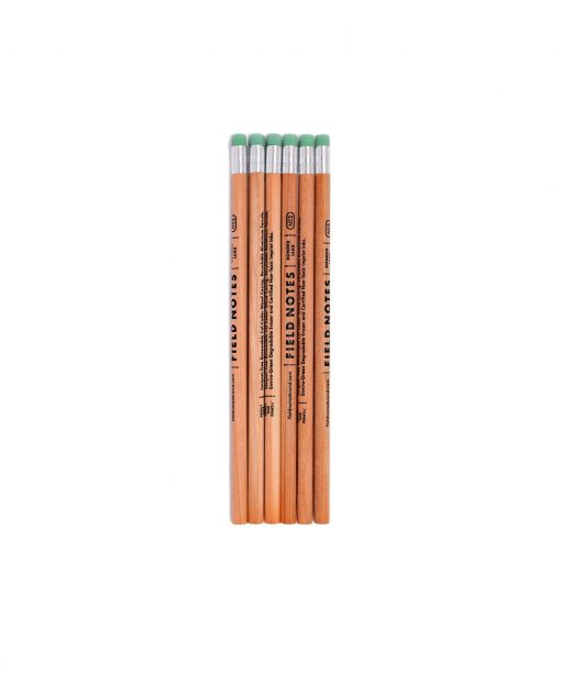 Field Notes Square Deal No. 2 Woodgrain Pencil 6-Pack Front Side Center