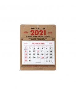Field Notes 15-Month Workstation Calendar (Nov 2020 - Jan 2022) Front Side Center