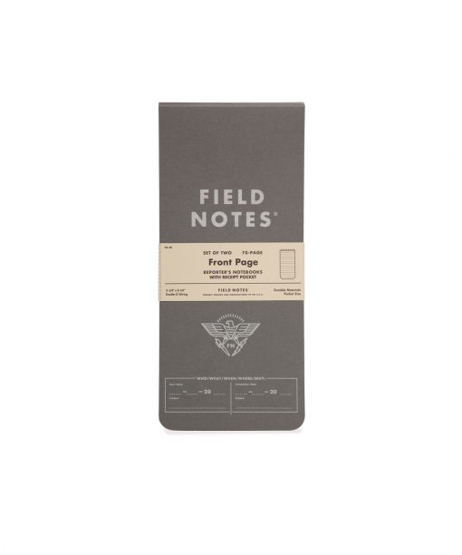 Field Notes Front Page - Reporter's Notebook 2 Pack (70 Pages) Front Side Center