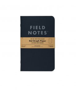 Field Notes Pitch Black Dot Graph Paper Note Book (64 Pages) Front Side Center