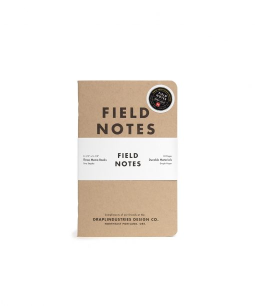 Field Notes Tenth Anniversary Edition Graph Paper Memo Book (32 Pages) Front Side Center In Pack