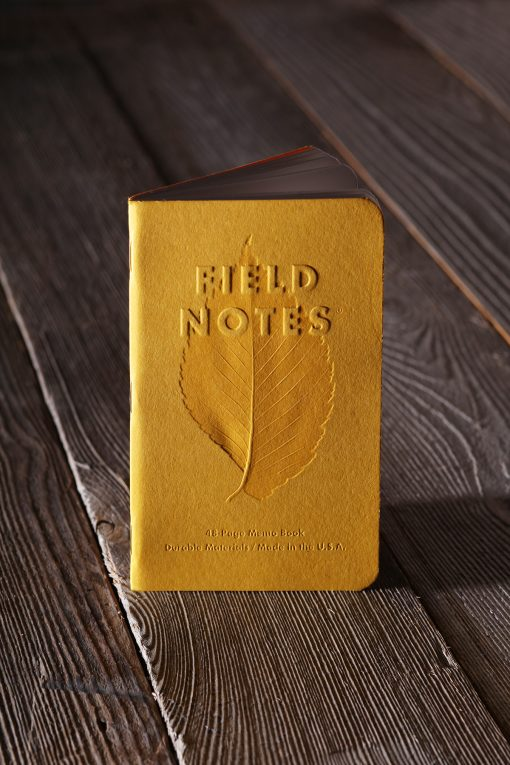 Field Notes Autumn - Ruled Paper Memo Book 3 Pack (48 Pages) Front Side Center With Background