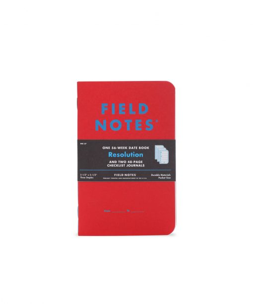 Field Notes Resolution - 56 Week Date Book Front Side Center Pack