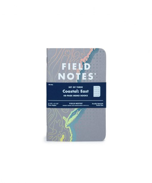Field Notes Coastal: East - Reticle Grid Paper Memo Book 3 Pack (48 Pages) Front Side Center