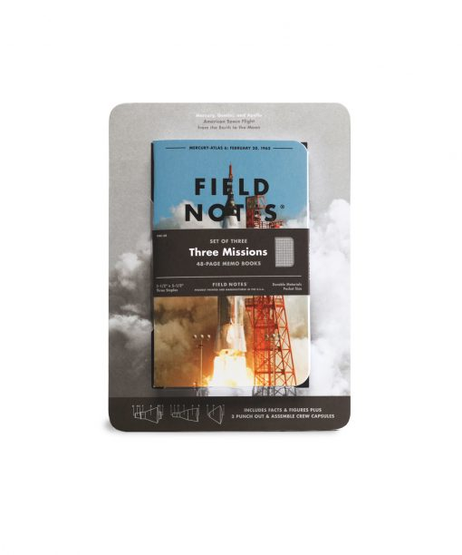 Field Notes Three Missions Graph Paper Memo Book 3 Pack (With Punch-Out Capsule Models) Front Side Center Pack