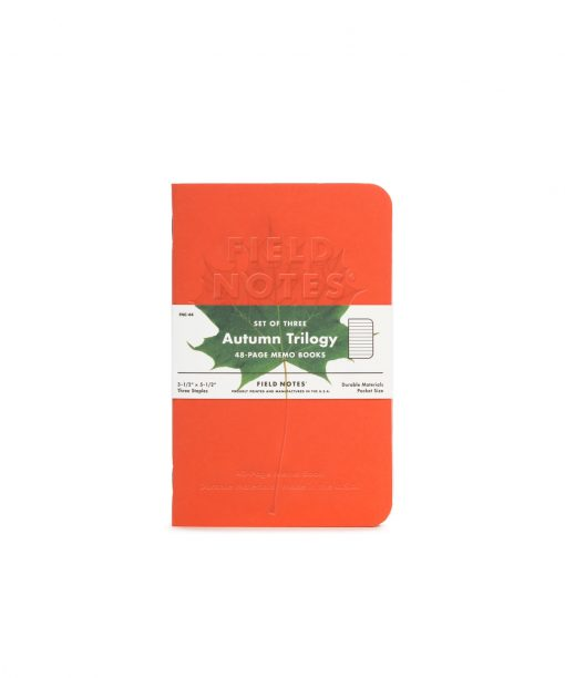 Field Notes Autumn - Ruled Paper Memo Book 3 Pack (48 Pages) Front Side Center