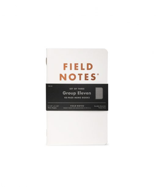 Field Notes Group Eleven - Ruled Paper Memo Book 3 Pack (48 Pages) Front Side Center