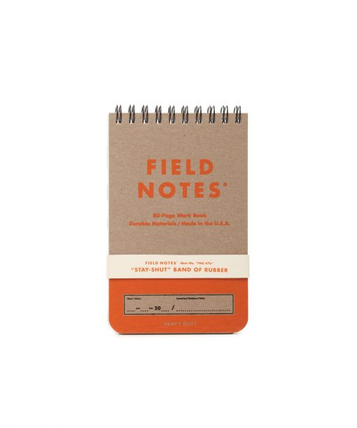 Field Notes Heavy Duty - Ruled/Double Graph Grid Paper Work Book 2 Pack (80 Pages) Front Side Center