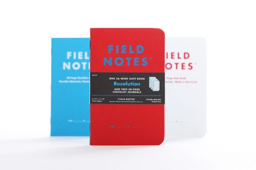 Field Notes Resolution - 56 Week Date Book Front Side Center Separate