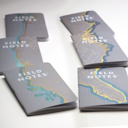 Field Notes Coastal: East - Reticle Grid Paper Memo Book 3 Pack (48 Pages) Front Side Scattered
