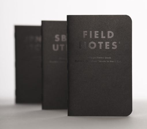 Field Notes Clandestine - Dot Graph Paper Memo Book 3 Pack (48 Pages) Front Side Staggered