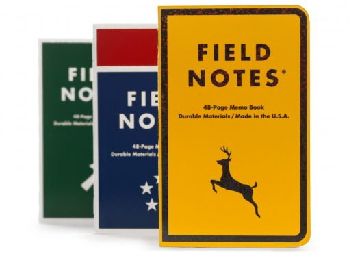 Field Notes Mile Marker - Dot Graph Paper Memo Book 3 Pack (48 Pages) Front Side Center