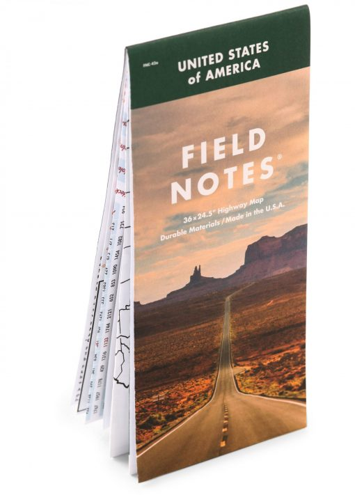 Field Notes National Highway Map Front Side Angled
