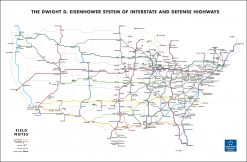 Field Notes National Highway Map Illustration