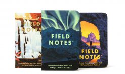 Field Notes National Parks Series E Denali/Cuyahoga/Olympic - Graph Paper Memo Book 3 Pack (48 Pages) Front Side Center All