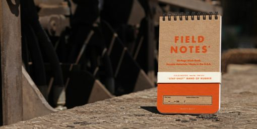 Field Notes Heavy Duty - Ruled/Double Graph Grid Paper Work Book 2 Pack (80 Pages) Front Side With background