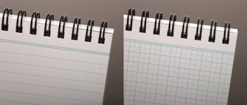 Field Notes Heavy Duty - Ruled/Double Graph Grid Paper Work Book 2 Pack (80 Pages) Front Side Open Close Up