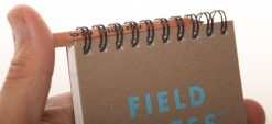 Field Notes Heavy Duty - Ruled/Double Graph Grid Paper Work Book 2 Pack (80 Pages) Front Side With Hand