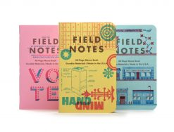 Field Notes United States of Letterpress 3 Pack C - Graph Paper Memo Books (48 Pages) Front Side Center Various