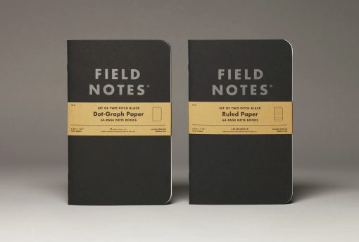 Field Notes Pitch Black Dot Graph Paper Note Book (64 Pages) Front Side Center with Background