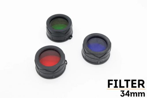 Fenix AD302B TK-Series Blue Filter Adapter Front Side Group With Title