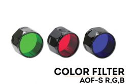 Fenix AOF-SG Green Filter Adapter Front Side Angled With Title