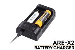 Fenix ARE-X2 Dual Channel Smart Charger Front Side With Title