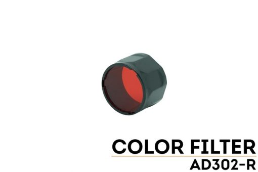 Fenix AD302R TK-Series Red Filter Adapter Front Side With Title