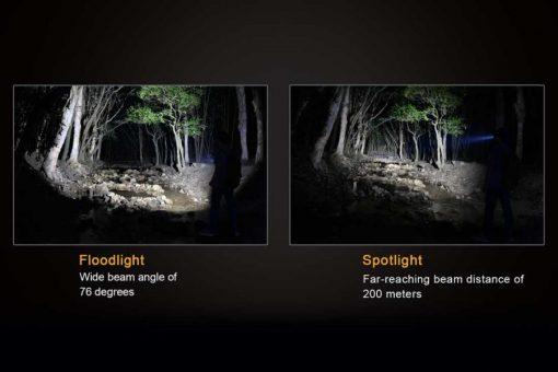 Fenix FD30 LED Focus Flashlight - 900 Lumens Infographic 3