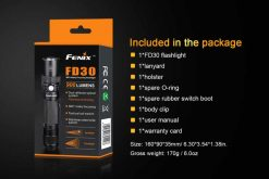 Fenix FD30 LED Focus Flashlight - 900 Lumens Infographic 4