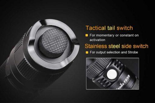 Fenix FD30 LED Focus Flashlight - 900 Lumens Infographic 6