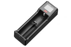 Fenix ARE-D1 Single Channel Smart Battery Charger Infographic Front Side Angled