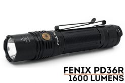 Fenix PD36R Flashlight - 1600 Lumens Front Side With Title