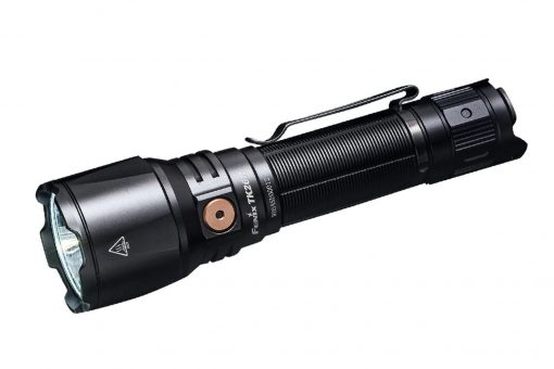 Fenix TK26R Tactical Flashlight - 1500 Lumens Front Side Angled