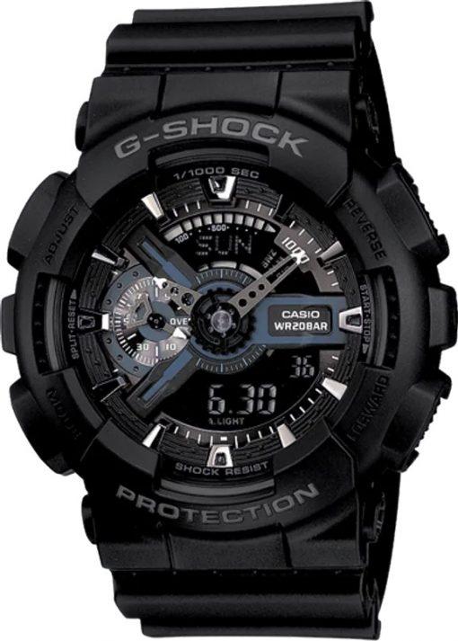 G-Shock Analog-Digital Large Black GA110-1BCR Front Side Closed Center