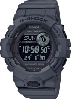 G-Shock Digital POWER TRAINER Black GBD800UC-8 Front Side Closed Center Angled