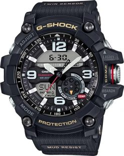 G-Shock Master of G MUDMASTER Black GG10001ACR Front Side Closed Center Angled