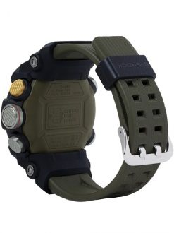 G-Shock Master of G MUDMASTER OD Green GGB1001A3 Back Side Closed Angled