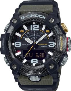 G-Shock Master of G MUDMASTER OD Green GGB1001A3 Front Side Closed Center Angled