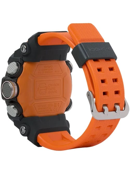 G-Shock Master of G MUDMASTER Orange GGB1001A9 Back Side Closed Angled