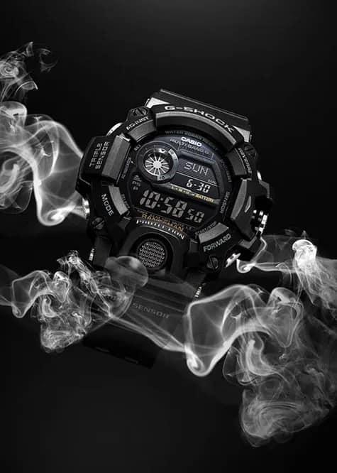 G-Shock Digital Master of G Black GW9400-1B Front Side Closed Background