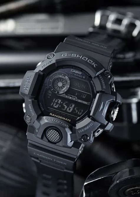 G-Shock Digital Master of G Black GW9400-1B Front Side Closed