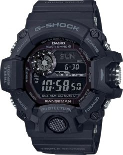 G-Shock Digital Master of G Black GW9400-1B Front Side Closed Center Angled