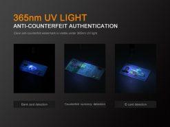 Fenix LD02 V2.0 EDC LED Penlight with UV Lighting - 70 Lumens Infographic 7