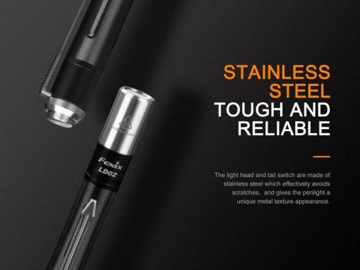 Fenix LD02 V2.0 EDC LED Penlight with UV Lighting - 70 Lumens Infographic 8