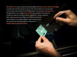 Fenix LD05 V2.0 EDC LED Flashlight with UV Lighting - 100 Lumens Infographic 3