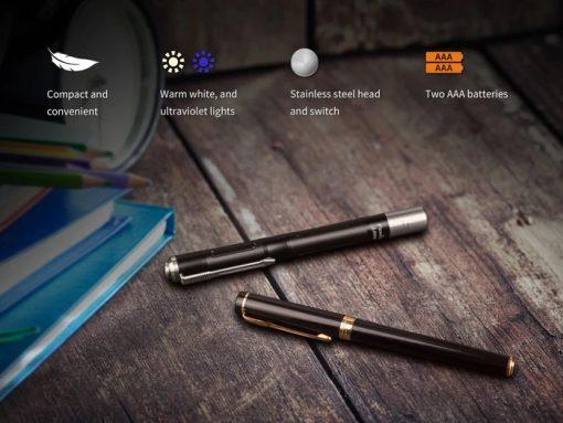Fenix LD05 V2.0 EDC LED Flashlight with UV Lighting - 100 Lumens Infographic 4