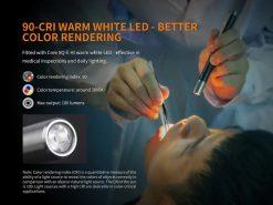 Fenix LD05 V2.0 EDC LED Flashlight with UV Lighting - 100 Lumens Infographic 6
