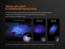 Fenix LD05 V2.0 EDC LED Flashlight with UV Lighting - 100 Lumens Infographic 8